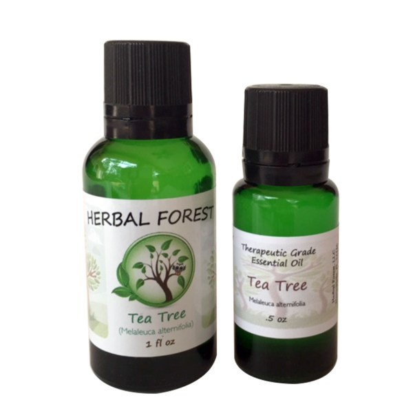image of Herbal Forest tea tree essential oil 1 oz and .5 oz