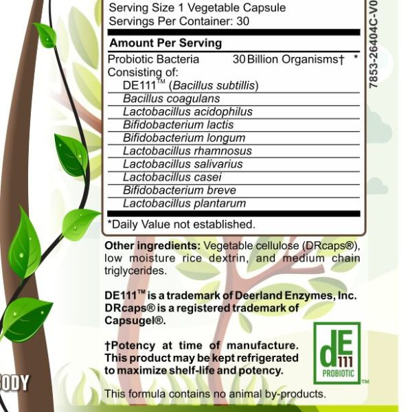 Herbal Forest 30 billion biotic ingredients list