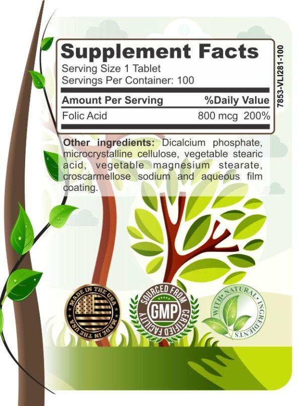 image of herbal forest folic acid ingredients