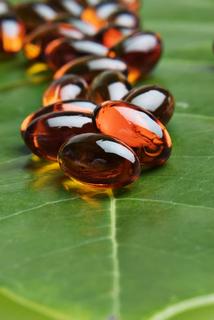 image of natural vitamins on a leaf