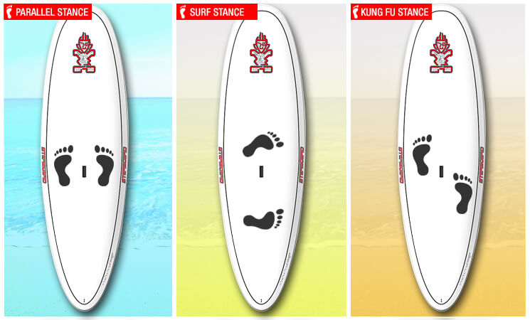 Types-of-paddle-board-stances
