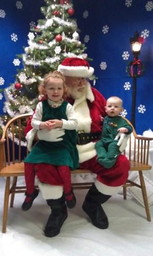 Hope and Luke with Santa