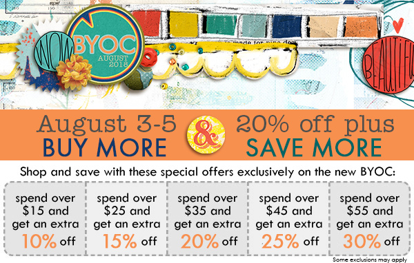 august BYOC buy more, save more discounts