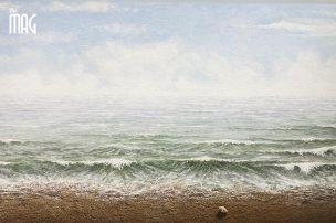Elio Mariucci - mare bozzetto su cartone