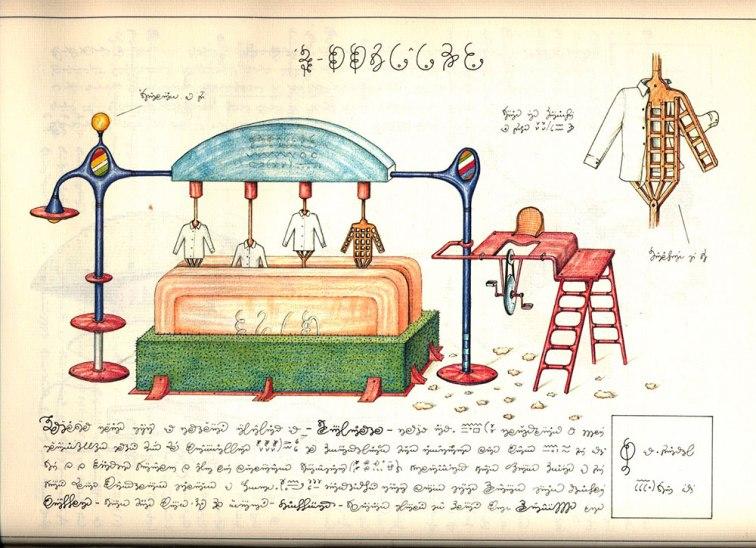 macchina per il lavaggio dei vestiti del Codex Seraphinianus