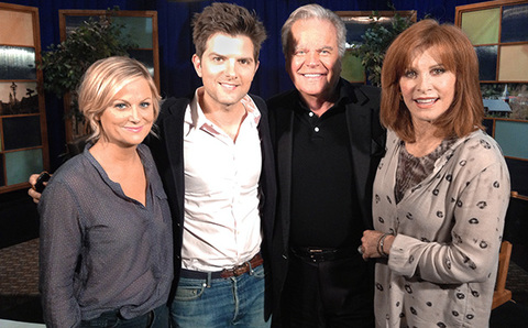 Robert Wagner, Stefanie Powers, Adam Scott and Amy Poehler