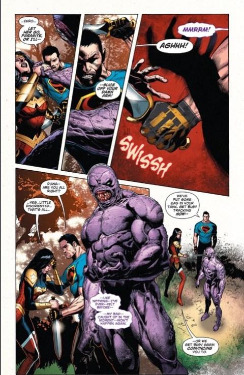 Parasite drains Wonder Woman