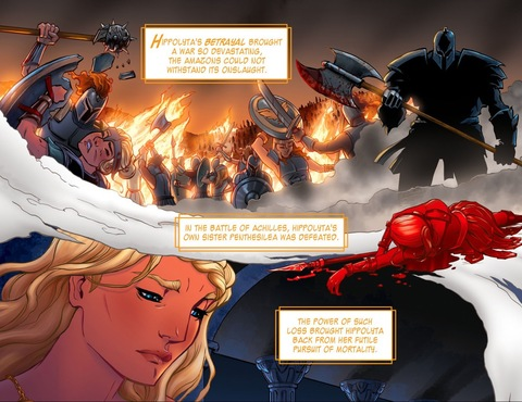 The death of Hippolyta's sister