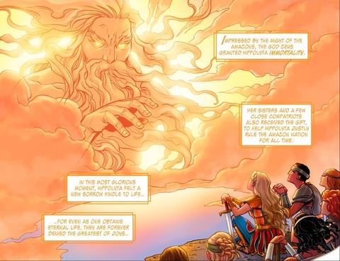 Zeus bestows immortality