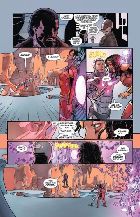 Superman saves Wonder Woman