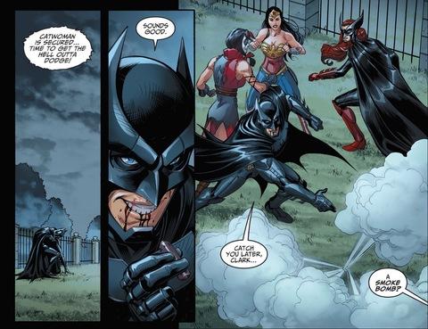 Batman runs away