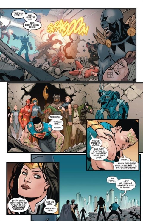 Justice League freed, but Superman is tired