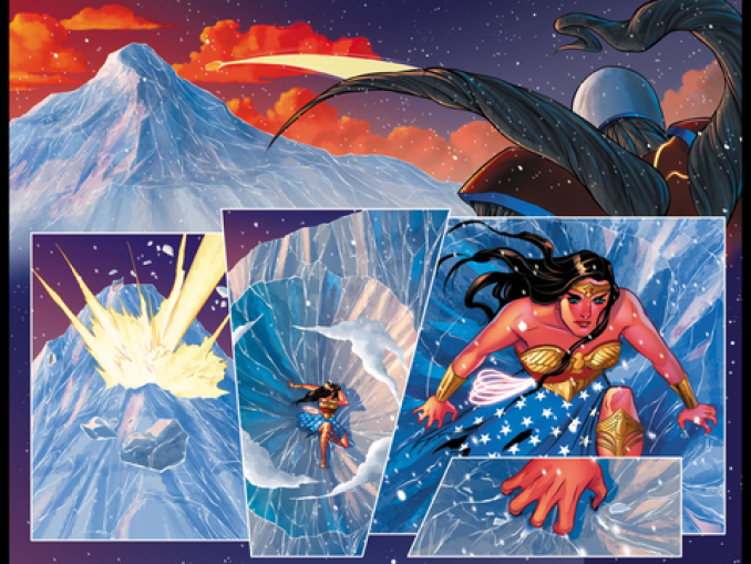 Wonder Woman and the Manhunter fight