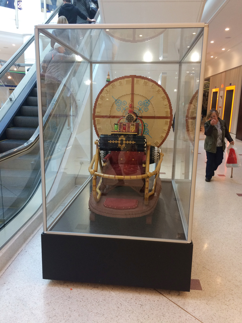 Bromley's permanent display of a Lego time machine