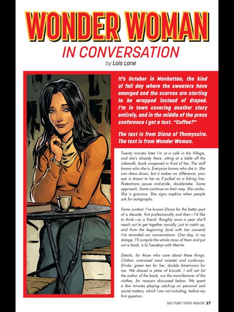 Wonder Woman in conversation