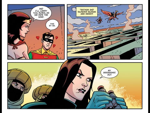 Wonder Woman flies Robin