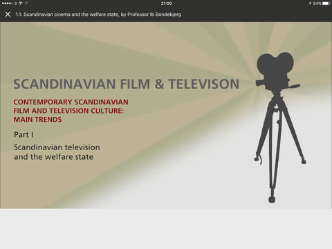 Coursera's Scandinavian TV and Film course