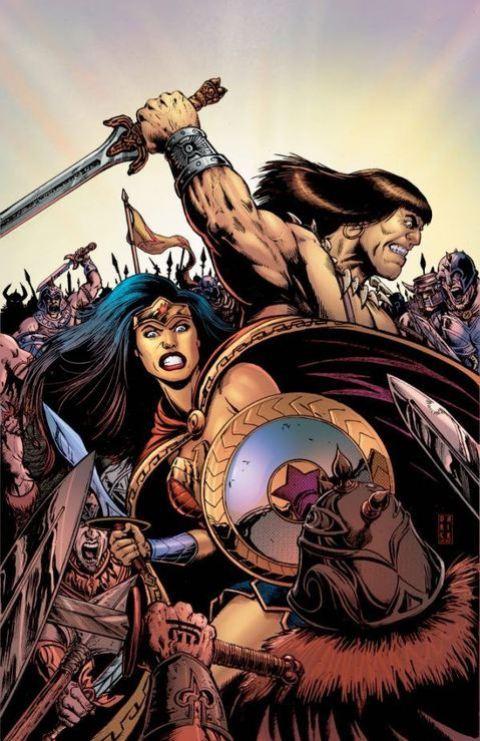 Conan and Wonder Woman