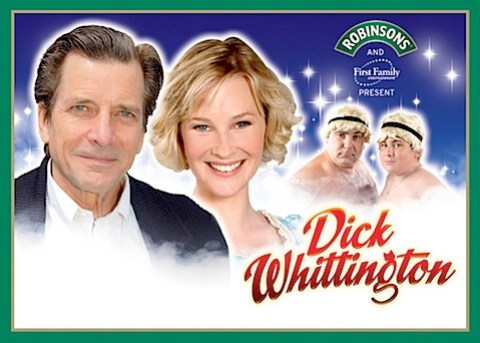 Joanna Page and Dirk Benedict in panto