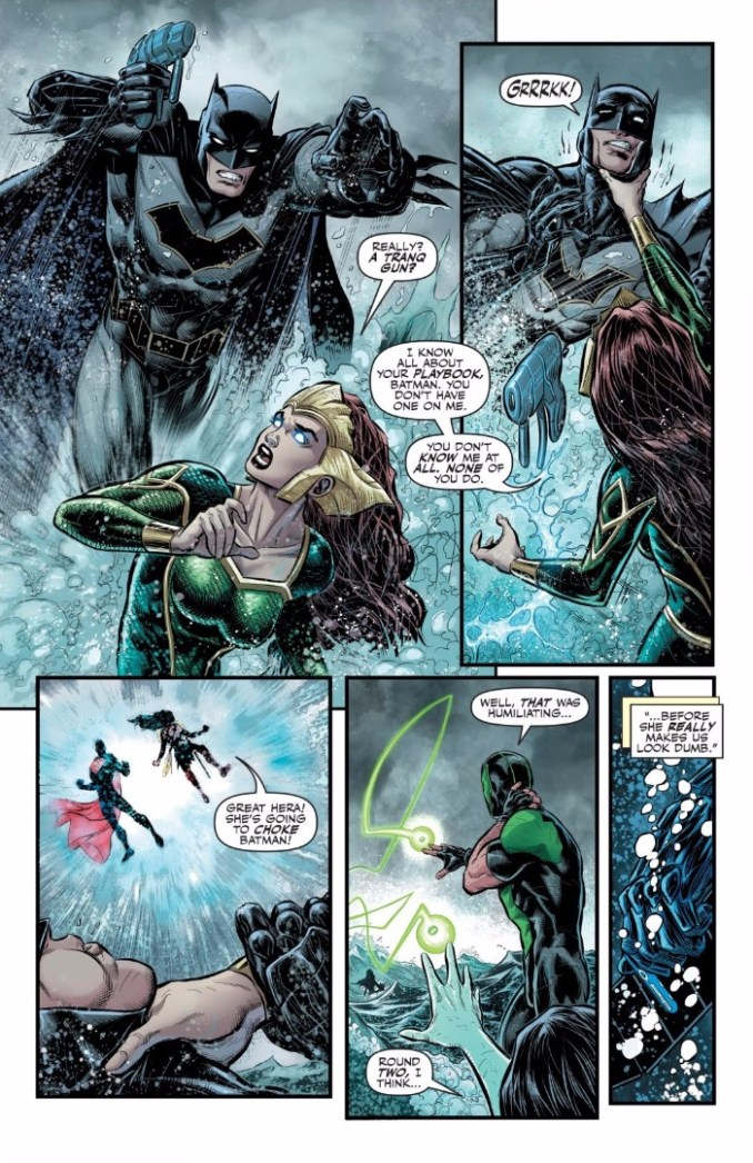 The Justice League are stopped by Mera