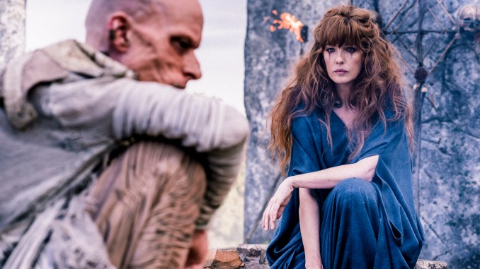 Mackenzie Crook and Kelly Reilly in Sky Atlantic's Britannia