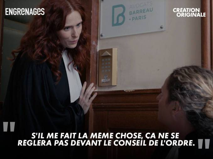 Audrey Fleurot in season 6 of Engrenages