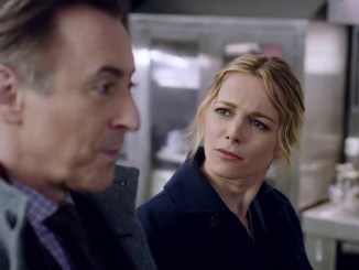 Alan Cumming and Bojana Novakovic in CBS's Instinct