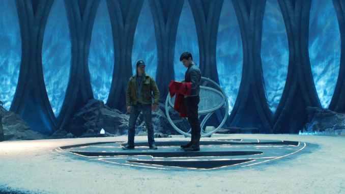 Seg-El and Adam Strange in Krypton