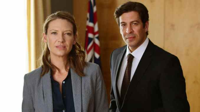 Anna Torv and Don Hany in Secret City: Under the Eagle