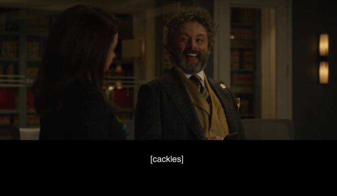 Michael Sheen cackles in The Good Fight