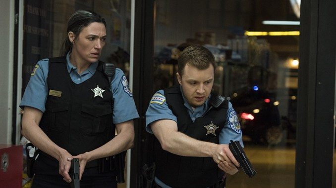 Elizabeth Laidlaw and Noel Fisher in The Red Line