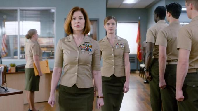 Dana Delany and Anna Wood in CBS's The Code
