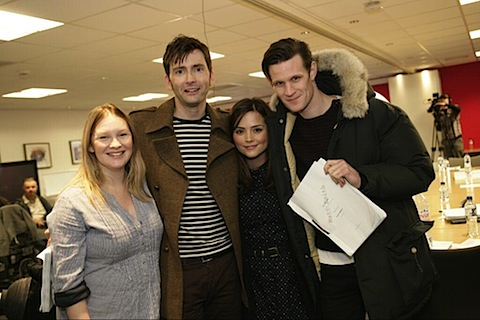 Joanna Page, David Tennant, Matt Smith and Jenna Louise Coleman