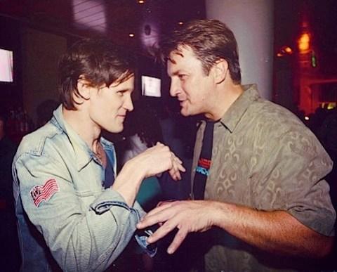 Matt Smith and Nathan Fillion having a chat