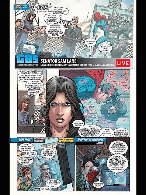 Wonder Woman calls Superman, gets Lana Lang