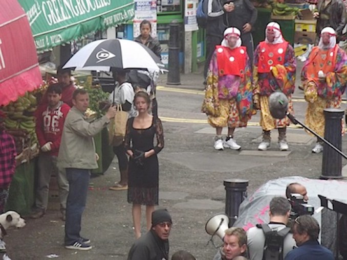 Amber Heard filming London Fields in Brixton