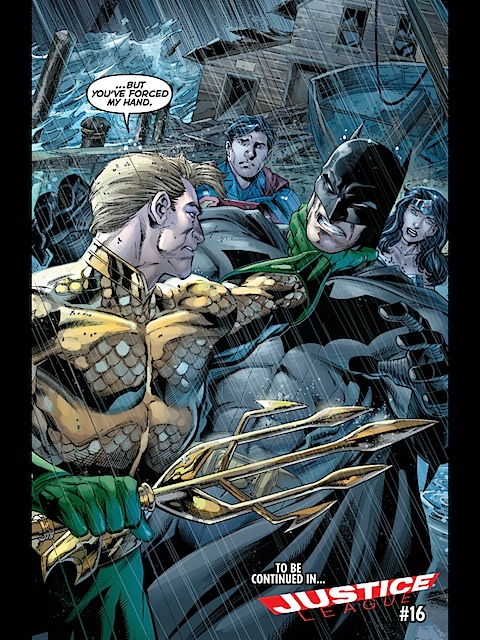 Aquaman grabs Batman