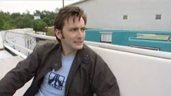 David Tennant in an Atari t-shirt