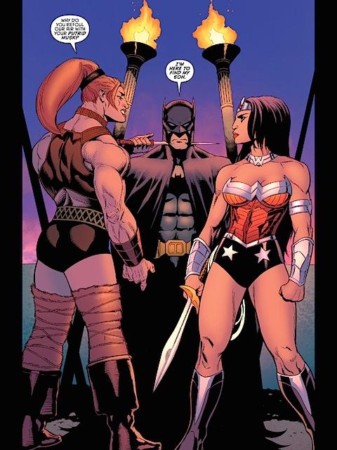 Alaka and Wonder Woman face off over Batman