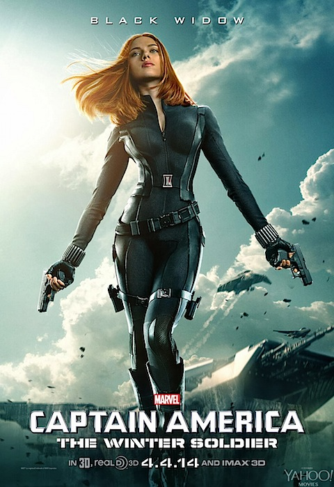 Scarlett Johansson is Black Widow in Captain America: Winter Soldier