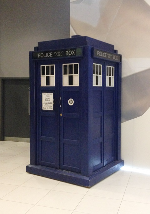 The TARDIS in BBC's Broadcasting House's cafeteria