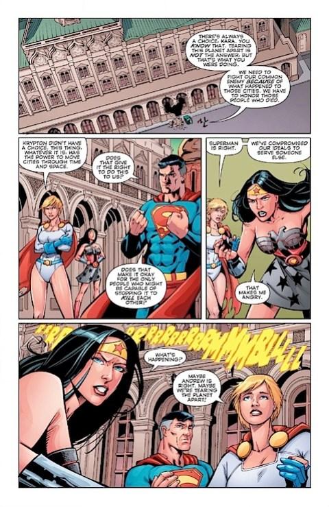 Supergirl and Wonder Woman unite