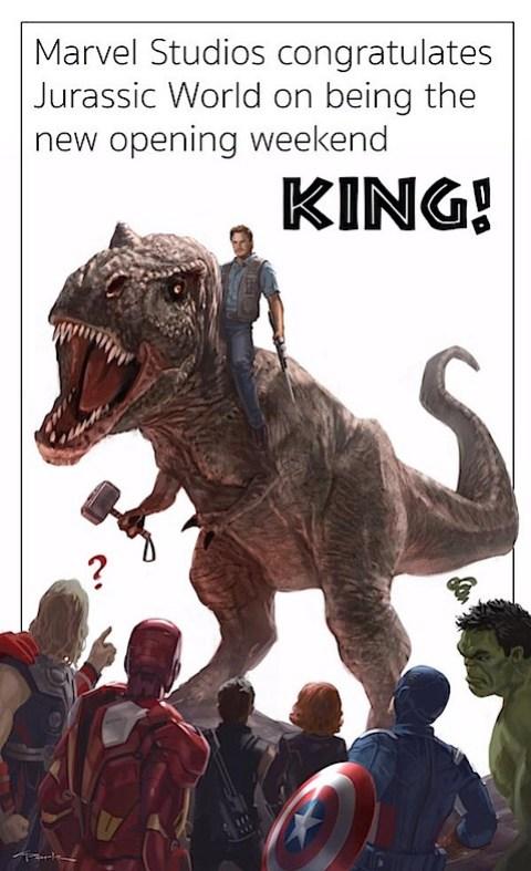 Marvel congratulates Jurassic World