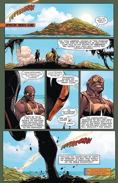 Hephaestus takes Deathstroke to Paradise Island
