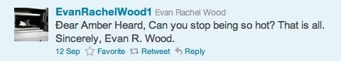 Evan Rachel Wood hits on Amber Heard