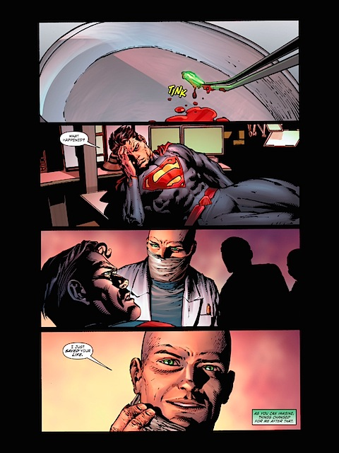 Lex Luthor saves Superman's life