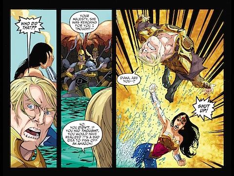 Wonder Woman attacked