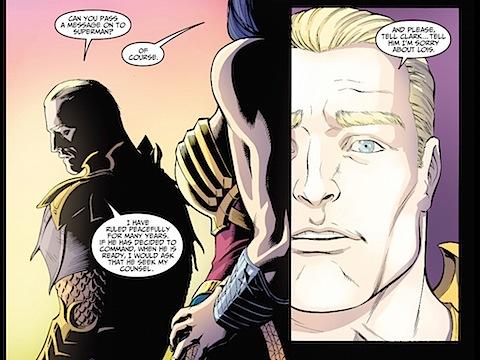 Aquaman and Wonder Woman talk