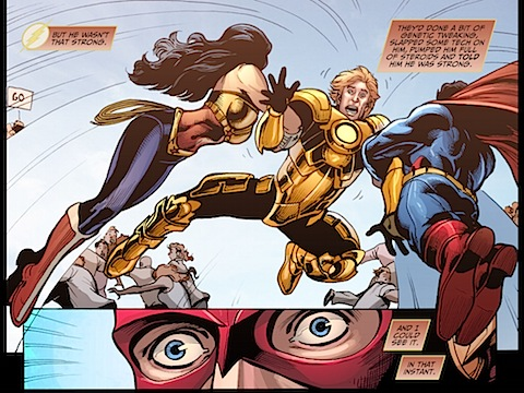 Superman and Wonder Woman twat a hero