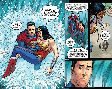 Supes rescues Wonder Woman